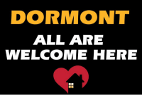 welcome: DORMONT  ALL ARE  WELCOME HERE