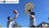 Sports, Feelings, and Comely: dormtainment  ta  ment Real feelings come out after you block someone's shot 😂✋🏾(via @dormtainment, h-t @houseofhighlights)