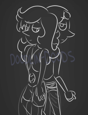 Tumblr, Blog, and Blue: Dos DS doodlin-doods:  AbandonedI wanted to doodle @boringartist's Powder Blue Pearl and started to think of how she and ammolite had opposite reactions to similar situations…