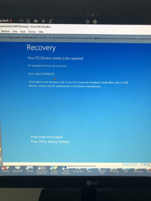 Dose some one know how to fix this (this is running on a virtual machine: Dose some one know how to fix this (this is running on a virtual machine
