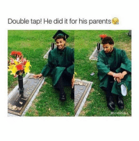 This is pretty amazing tbh, just good vibes..: Double tap! He did it for his parents This is pretty amazing tbh, just good vibes..