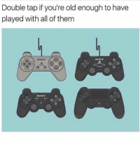 Crazy, Drake, and Memes: Double tap if you're old enough to have  played with all of them  BONY  EBONY  SONY DOUBLETAP❤️ Swipe Left⬅️ - 🚀Follow @IJFXL for more memes!🚀👌 Via: ? - ❤️Subscribe to my YouTube!(link in bio)❤️ 📥DM proof and I'll DM back(not clickbait)📥 😂Leave a Comment if you see this!😂 - - - ❌IGNORE MY SWAG TAGS😭 GTA GTAV GTA5 Gaming gamingmemes xbox playstation callofduty relatable blackops3 rainbowsix rainbowsixsiege mwr gamer hilarious comedy hoodhumor zerochill jokes dankmeme litasf squad crazy omg accurate epic trump drake