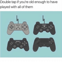 Ps1 controller brings back memories 😭: Double tap if you're old enough to have  played with all of them  SONY  よ  SONY  SONY Ps1 controller brings back memories 😭