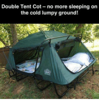 Yay or Nay?: Double Tent Cot no more sleeping on  the cold lumpy ground!  AMN Yay or Nay?