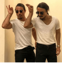 Bae, Internet, and Memes: Double the pleasure ... double the fun. Internet sensation Salt Bae just revealed his very own wax figure. Hope Wax Bae knows how to handle his meat too 😜 tmz saltbae