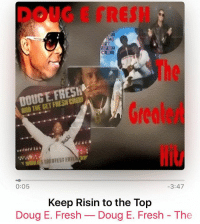 """"""" keeprisintothetop """" @therealdougefresh and thegetfreshcrew myhiphop: DOUG E GRESH  The  Greolert  Hit  DOUGE FRESh  ANB THE GET FRESW CRE  0:05  3:47  Keep Risin to the Top  Doug E. Fresh-Doug E. Fresh - The """" keeprisintothetop """" @therealdougefresh and thegetfreshcrew myhiphop"""