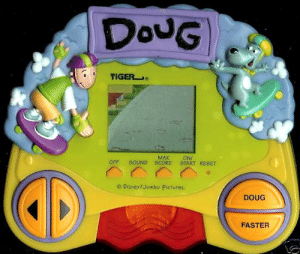 "frenchdad:  Look at those buttons.""DOUG"" and ""FASTER"".That's it.  : DouG  TIGER  MAX  SOUND SCORE  ONI  START RESET  OFF  O Disney/Jumbo Pictures.  DOUG  FASTER frenchdad:  Look at those buttons.""DOUG"" and ""FASTER"".That's it."