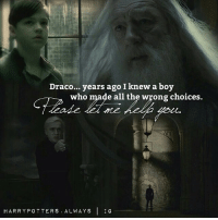 Draco... years ago I knew a boy  who made all the wrong choices.  HARRY POTTERS ALWAYS I IG When Draco starts crying 😢