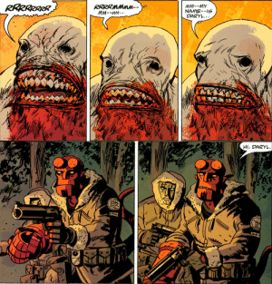 dracolord1208: jovenistheworst:  Everything you'd need to know about Hellboy's character in two panels.   Reading this like a manga gives a different image : dracolord1208: jovenistheworst:  Everything you'd need to know about Hellboy's character in two panels.   Reading this like a manga gives a different image