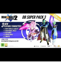 THIS TUESDAY!!!!!!! DLC Pack 3 Comes xenoverse2: DRAE BAL2 DB SUPER FACK3  NEW  PLAYABLECHARACTERS  >3NEWPARALLELaUESTS  >5ADDITIONAL SKILLS  >4 COSTUMES  >5 SUPER SOULS  2EMOTES  APRIL 25TH  www.dragonball videogames com/dlc/  XBOKONE THIS TUESDAY!!!!!!! DLC Pack 3 Comes xenoverse2