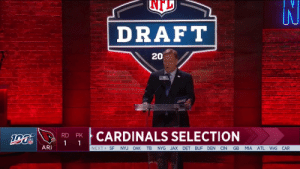 Abc, Espn, and Football: DRAFT  20  CARDINALS SELECTION  RD PK  DR  ARI  NEXT SF NYJ OAK TB NYG JAX DET BUF DEN CIN GB MIA ATL WAS CAR KYLER! 🙌  @thekylermurray @ou_football   📺: NFLN/ESPN/ABC https://t.co/Zr3wuB9p4o