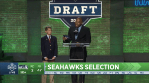 Owen started blood cancer treatment at age four. Thanks to groundbreaking research by @StJude, he's cancer free at 13.  And announcing the @Seahawks' second round pick. ✊  📺: NFLN/ESPN/ABC https://t.co/TM4aP5CiKY: DRAFT  202  RSEAHAWKS SELECTION  2 47  LIVE SEA  NEXT> NO IND MIN TEN CIN PHI HOU HOU LAR PHI DAL IND LAC KC MIA Owen started blood cancer treatment at age four. Thanks to groundbreaking research by @StJude, he's cancer free at 13.  And announcing the @Seahawks' second round pick. ✊  📺: NFLN/ESPN/ABC https://t.co/TM4aP5CiKY