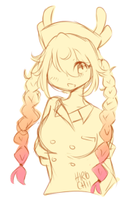 Braids, Target, and Tumblr: dragonbanzai:  i havent had motivation to draw lately, but i couldnt resist drawing my sweet girl with the cutest braids