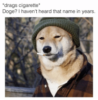 Doge Meme: *drags cigarette*  Doge? haven't heard that name in years.