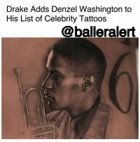 "Birthday, Denzel Washington, and Drake: Drake Adds Denzel Washington to  His List of Celebrity Tattoos  @balleralert Drake Adds Denzel Washington to His List of Celebrity Tattoos – blogged by @MsJennyb ⠀⠀⠀⠀⠀⠀⠀ ⠀⠀⠀⠀⠀⠀⠀ Drake is slowly turning into his body into an artistic masterpiece of his favorite people, places and things. Among the rapper's tattoos that represent his hometown or his birthday, Drake inked a slew of artwork to represent his favorite projects, people and cologne. The rapper also has a giant family portrait on his back, which features a photo of his mother and an itty bity portrait of his father's mugshot tatted on his arm. ⠀⠀⠀⠀⠀⠀⠀ ⠀⠀⠀⠀⠀⠀⠀ Most recently, Drake had Toronto-based tattoo artist Inal Bersekov tat a portrait of his recently deceased friend and fellow rapper, Anthony 'Fif' Soares. But, Drake's tattoo range does not end with family and friends. ⠀⠀⠀⠀⠀⠀⠀ ⠀⠀⠀⠀⠀⠀⠀ The rapper has immortalized a slew of celebrities, of whom he's received inspiration from or has been a fan of. The most recent celebrity to join the likes of Sade, LilWayne and Aaliyah is none other than the on-screen legend, DenzelWashington. Drake summoned Bersekov to ink Washington's character Bleek Gilliam from the '90s film ""Mo' Better Blues,"" as it is one of his all-time favorite movies. ⠀⠀⠀⠀⠀⠀⠀ ⠀⠀⠀⠀⠀⠀⠀ Which celebrity do you think Drake will tattoo on his body next?"
