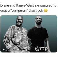 "Adidas, Diss, and Drake: Drake and Kanye West are rumored to  drop a ""Jumpman"" diss track  @rap drake and kanyewest cooking up something, drake making a deal with adidas ?"