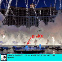 """Adele, Billboard, and Drake: Drake  DRAKE DANCED IN A RING OF FIRE AT THE  BBMAS  NEWS Drake was a master of the elements during his unusual Billboard Music Awards performance. _ Instead of hopping up on a regular stage like everyone else, Drake rapped """"Gyalchester"""" from inside the Fountains at Bellagio. Pyrotechnics shot up around him while he jumped around with his hypeman and good pal Baka. _ Why choose between fire and water when you can have both? If Adele has taught us anything, it's that there's nothing more dramatic than setting water on fire. _ by Sasha Geffen"""