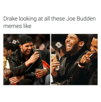 These rappers gon learn to stop fuckin wit drizzy. Every rapper that comes at him, ends up taking L's. 😂😂😂😂😂😂 drake joebudden wildin LMMFAO: Drake looking at all these Joe Budden  memes like These rappers gon learn to stop fuckin wit drizzy. Every rapper that comes at him, ends up taking L's. 😂😂😂😂😂😂 drake joebudden wildin LMMFAO