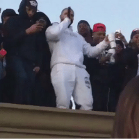 Drake performing hotline bling on a roof top at a block party in Houston: Drake performing hotline bling on a roof top at a block party in Houston