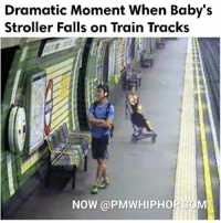 Woman saves baby from the train tracks in London after its pram is blown over the edge- FULL VIDEO & STORY AT PMWHIPHOP.COM LINK IN BIO: Dramatic Moment When Baby's  Stroller Falls on Train Tracks  NOW PMWHIPHO Woman saves baby from the train tracks in London after its pram is blown over the edge- FULL VIDEO & STORY AT PMWHIPHOP.COM LINK IN BIO