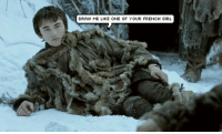 Who did this? GameOfThrones: DRAW ME LIKE ONE OF YOUR FRENCH GIRL Who did this? GameOfThrones