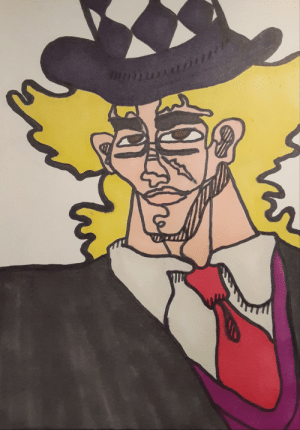 Drawing Jojo Characters in Oingo Boingo Style Everyday until Stone Ocean is Announced (Day 3) (Robert E.O. Speedwagon): Drawing Jojo Characters in Oingo Boingo Style Everyday until Stone Ocean is Announced (Day 3) (Robert E.O. Speedwagon)