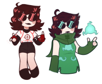 Cute, Target, and Tumblr: drawthiere:(i had to repost bc there was a mistake sowwey if you see a ping twice) @sarcasmprodigy ur oc ashe is rlly cute!! heres a chibi and a doodle