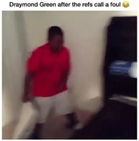 Af, Draymond Green, and Funny: Draymond Green after the refs call a foul Hahahha accurate af