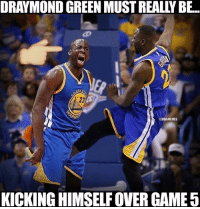 How Draymond Green feels right now. Credit: @Shaqtin_A_Fool: DRAYMOND GREEN MUSTREALLY BE.  @NBAMEMES  KICKING HIMSELF OVER GAME 5 How Draymond Green feels right now. Credit: @Shaqtin_A_Fool