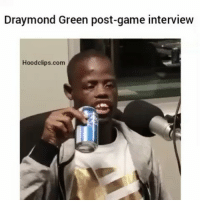 tell us how you really feel 😂 By: Deez nuts: Draymond Green post-game interview  Hood clips.com tell us how you really feel 😂 By: Deez nuts
