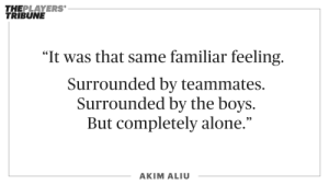 .@Dreamer_Aliu78 is not a stranger to feeling alone. During tournaments in Quebec. When he spent a few months in Windsor. In the Rockford IceHogs locker room.   📝: https://t.co/QA9nHB8plS https://t.co/02J9RY2hmg: .@Dreamer_Aliu78 is not a stranger to feeling alone. During tournaments in Quebec. When he spent a few months in Windsor. In the Rockford IceHogs locker room.   📝: https://t.co/QA9nHB8plS https://t.co/02J9RY2hmg