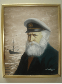 """Saw this disgruntled sea captain painting at a beach house. Thought it needed to be a meme. Any thoughts: dReldn"""" Saw this disgruntled sea captain painting at a beach house. Thought it needed to be a meme. Any thoughts"""