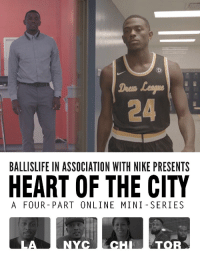 Memes, Nike, and Drew League: Drem  24  BALLISLIFE IN ASSOCIATION WITH NIKE PRESENTS  HEART OF THE CITY  A FOUR- PART ONLINE MINI SERIES  LA  NYCECHTOR Mon-Fri: He's Frank Session, 9-5 worker. Sat-Sun: He's Frank Nitty, Drew League MVP.  His story in #HeartOfTheCity: https://t.co/KukRsF6lh9 https://t.co/ShPx3kyqfB