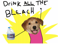 Advice Dog: DriNK ALL THE  BLEACH  LOROX