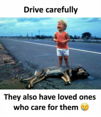 Memes, Drive, and 🤖: Drive carefully  They also have loved ones  who care for them Follow our new page - @sadcasm.co