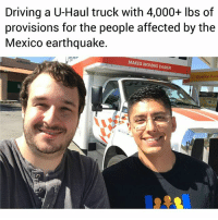 My friend Matt (Twitter: @mathew_foresta) and I are driving a 26-foot long U-Haul truck across the country with over 4,000 lbs of canned food, medicine, water, etc. that will eventually be delivered to the people affected by the earthquake in Central Mexico. Today, we have driven over 700 miles and we will be meeting our friend Esteban Burgoa in Laredo, Texas where we will transfer everything to his 18-wheeler truck (already half full with provisions from the people of Chicago). TO SUPPORT THESE EFFORTS SEE LINK IN BIO 👉🏾 @UndocuMedia 👈🏾 Special shout-out to Karla Estrada (@karla_estrada_222) for leading this operation, the people of South El Monte for their donations, all the volunteers, AND, last but not least, Hector Barajas (a deported veteran) who will be accompanying Esteban in the last half part of the trip to their final destination. We need your financial support to finish this trip. SEE LINK IN BIO 👉🏾 @UndocuMedia 👈🏾: Driving a U-Haul truck with 4,000+ lbs of  provisions for the people affected by the  Mexico earthquake.  MAKES MOVING EASIER  Quality Fuel My friend Matt (Twitter: @mathew_foresta) and I are driving a 26-foot long U-Haul truck across the country with over 4,000 lbs of canned food, medicine, water, etc. that will eventually be delivered to the people affected by the earthquake in Central Mexico. Today, we have driven over 700 miles and we will be meeting our friend Esteban Burgoa in Laredo, Texas where we will transfer everything to his 18-wheeler truck (already half full with provisions from the people of Chicago). TO SUPPORT THESE EFFORTS SEE LINK IN BIO 👉🏾 @UndocuMedia 👈🏾 Special shout-out to Karla Estrada (@karla_estrada_222) for leading this operation, the people of South El Monte for their donations, all the volunteers, AND, last but not least, Hector Barajas (a deported veteran) who will be accompanying Esteban in the last half part of the trip to their final destination. We need your financial support to finish this trip. SEE LINK IN BIO 👉🏾 @UndocuMedia 👈🏾