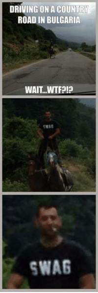 Badass Bulgarians!: DRIVING ON A COUNTRY  ROAD IN BULGARIA  WAIT...WTF?!  SWAS  SWAG Badass Bulgarians!