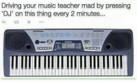 Classic 😂👌🏼: Driving your music teacher mad by pressing  DJ' on this thing every 2 minutes... Classic 😂👌🏼