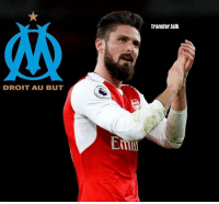 Arsenal, Memes, and Sports: DROIT AU BUT  Transfer talk Marseille will try to sign Olivier Giroud from Arsenal this summer. (SKY SPORTS)