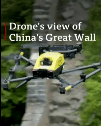 Using 21st Century technology to save an ancient treasure. Drones are being used in the fight to preserve the Great Wall of China, scanning the structure so experts can spot the faults that need urgent attention. But it's not just advanced technology involved in the restoration - donkeys and locals are playing a vital role too! China GreatWall Drone Technology science BBCNews: Drone's view of  China's Great Wall Using 21st Century technology to save an ancient treasure. Drones are being used in the fight to preserve the Great Wall of China, scanning the structure so experts can spot the faults that need urgent attention. But it's not just advanced technology involved in the restoration - donkeys and locals are playing a vital role too! China GreatWall Drone Technology science BBCNews
