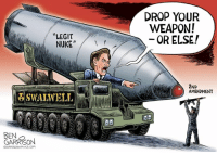 "Memes, 2nd Amendment, and 🤖: DROP YOUR  WEAPON!  OR ELSE!  ""LEGIT  NUKE""  2ND  AMENDMENT  BEN  GAR晁ON  心GRRRGRAPHICS COM Congressman Eric Swalwell (CS)"