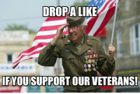 Memes, 🤖, and Battery: DROPA  LKE  IF  YOU SUPPORT OUR VETERANS Do you support our vets!? Drop a like & comment your battery % 5 times for a shoutout!