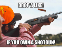 Memes, 🤖, and Got: DROPALIKE!  NGCOUNTRY  @AN  IF YOU OWN A SHOTGUN! Who owns one!? Comment what you got below!!