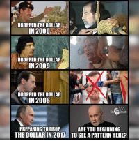 Facebook, Memes, and News: DROPPED THE DOLLAR  IN 2000  DROPPED THE DOLLAR  IN 2009  DROPPED THEDOLLAR  IN 2006  The Free Thought  PREPARING TO DROP  ARE YOU BEGINNING  THE DOLLARIN 2017 TO SEE A PATTERNHERE? 💭 Read the FULL Report: (link in bio) http:-thefreethoughtproject.com-russia-split-international-bankers-gold- 💭 Join Us: @TheFreeThoughtProject 💭 TheFreeThoughtProject 💭 LIKE our Facebook page & Visit our website for more News and Information. Link in Bio.... 💭 www.TheFreeThoughtProject.com
