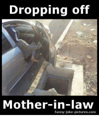 funny joke: Dropping off  Mother-in-law  funny-joke-pictures.com