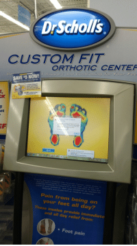 """Click, Microsoft, and Windows: DrScholl's  CUSTOM FIT  ORTHOTIC CENTEF  d Support and Cushioning for Your Fee  SAVE $5 NOW!  On the purchase of one Dr. Scholl's Custom Fit Orthotic Inserts  Not to be used on any ather Dr Scholl's pradu  Dr. Scholl's Custom Fit  Orthotic Inserts relieve  foot, knee or lower back  pain from being on your feet  10.00 in additional savings  at www.drscholls.com  et  is not  y u may be a victim of software  To  """"sea.  Microsoft Windows@features, such as all  updetes from Windows Updater get the latest updates  and reccive product support, your copy of Microsoft  Windowsmust be validated as genuine.  Close  Activate Windows now  A hardware or driver change requires you to activate  Windows again.  Click this message to start activation.  Start  FW  836 AM  The Dr.Scholl's Custom Fite Orth  the art technolo  diagnose medical conditions.lt  place of your podiatrist. S  otic Center uses state of  gy to measure your feet, but does  no  is not intended to take the  ee your podiatrist as needed for  diagnosis  and treatment of medical conditions  Pain from being on  your feet all day?  These insoles provide immediate  and all day relief from:  Foot pain"""