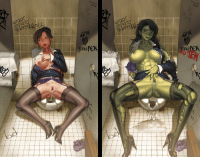 """Cum, Fall, and Hentai: DRUC5  DRUSS  ENNI  ifeR  ENNER <p><a href=""""https://theeud.tumblr.com/post/173594032720/commission-she-hulk-the-date-of-two-jennifers"""" class=""""tumblr_blog"""" target=""""_blank"""">theeud</a>:</p> <blockquote> <p><b>Commission: She-Hulk - The Date of Two Jennifers, a.k.a. The Long Arms of the Lawyer </b></p> <blockquote><p>What happens when you're in a relationship with both the mouse and the lioness? <br/>What happens when your legal aide is also your sexual comfort? <br/>What happens when you fall into…the Long Arms of The Lawyer?<br/>Is it smart to date a Hulk? Or are you just horny and stupid, and see the chiropractor afterwards?</p></blockquote> <p>Art Commissioned by <b><a href=""""http://www.hentai-foundry.com/user/maskedmarmoset/profile"""" target=""""_blank"""">MaskedMarmoset</a></b><br/>Story art for this story: <b><a href=""""http://www.hentai-foundry.com/stories/user/maskedmarmoset/23732/She-Hulk-and-Nate-Long-The-Long-Arms-of-Lawyer"""" target=""""_blank"""">She-Hulk &amp; Nate Long: The Long Arms of the Lawyer</a></b><br/>Story commissioned by <b><a href=""""http://www.hentai-foundry.com/user/shazam89/profile"""" target=""""_blank"""">Shazam89</a></b></p> <p>Commissioned work for MaskedMarmost<br/>- Split scene for She-Hulk(Jennifer Walters), before/after transformation<br/>- In public restroom, toilet stall<br/>- After sex, cum leaking from her crotch<br/>- Broken backgrounds for She-Hulk side<br/><br/>I used to think it might be an easy job, but actually it was so harsh. Not difficult but lots of work amount. Painting background was quite fun.<br/></p> </blockquote>"""