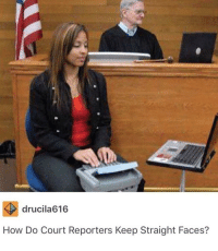 Definitely, Memes, and 🤖: drucila616  How Do Court Reporters Keep Straight Faces? A bit of a long one but definitely worth reading 😂