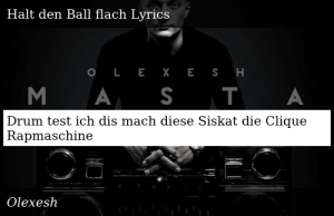 halt den ball flach olexesh