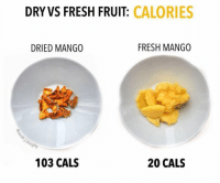RT @Caloriesfixes: https://t.co/6L9GR37inQ: DRY VS FRESH FRUIT: CALORIES  DRIED MANGO  FRESH MANGO  ph  103 CALS  20 CALS RT @Caloriesfixes: https://t.co/6L9GR37inQ